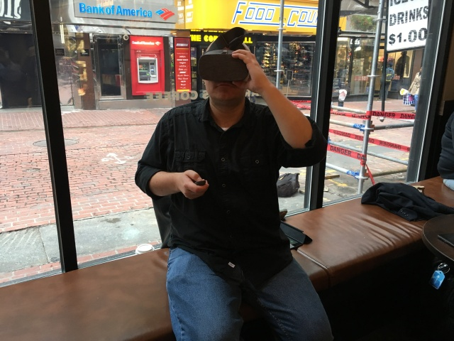 Colin Barry of VentureFizz tries Kaon VR
