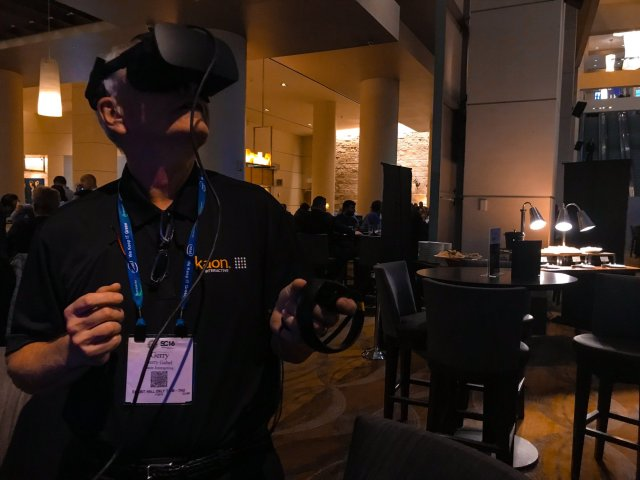 Kaon VR at SuperComputing tradeshow