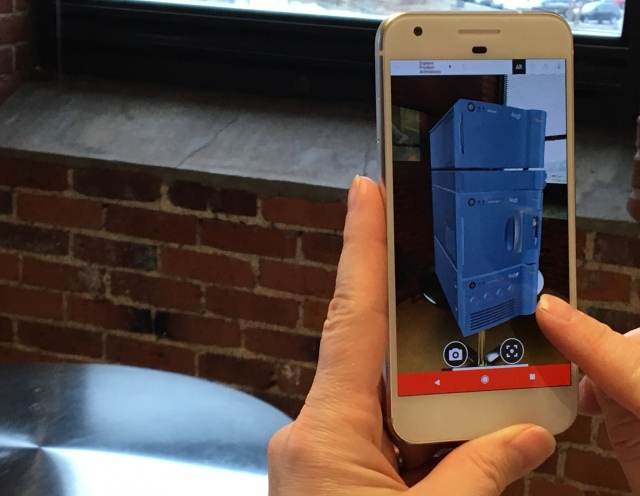 Waters 3D Product Model in Kaon AR with ARCore