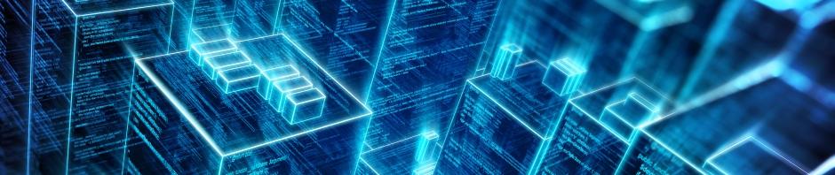 Blue AR Cityscape