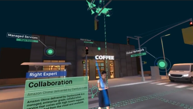 "Screenshot from CenturyLink VR experience ""Why Milliseconds Matter"""