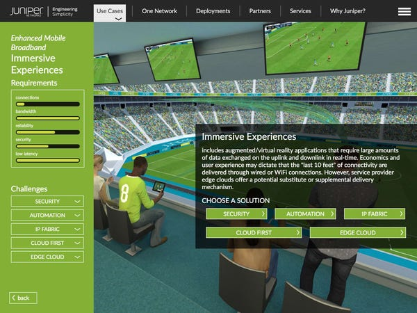 Juniper Networks Interactive Application, developed by Kaon Interactive